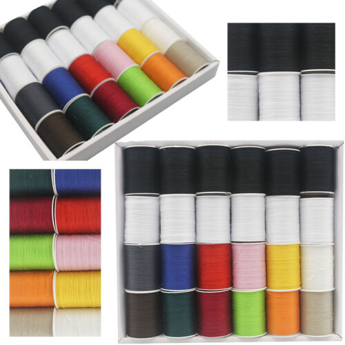 24//48 Spools Colour Finest Quality Sewing All Purpose 100/% Cotton Thread Reel