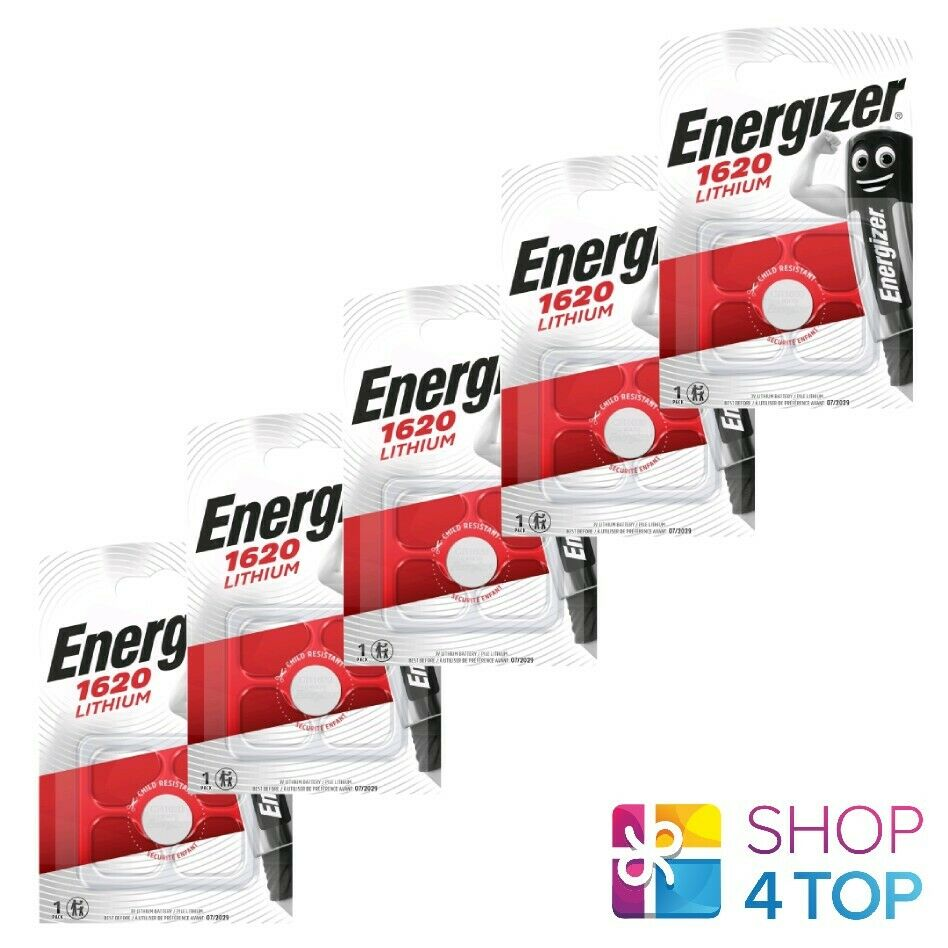 5 energizer cr1620 lithium batteries 3v coin cell dl1620 exp 2029 new