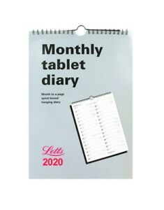 Letts-2020-Monthly-Tablet-Diary-Calendar-A4-Planner-Hanging-Spiral-Bound-20-TMT