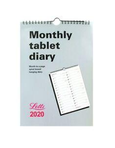 Letts-2020-comprimido-mensual-organizador-calendario-diario-Colgante-Espiral-20-TMT-A4