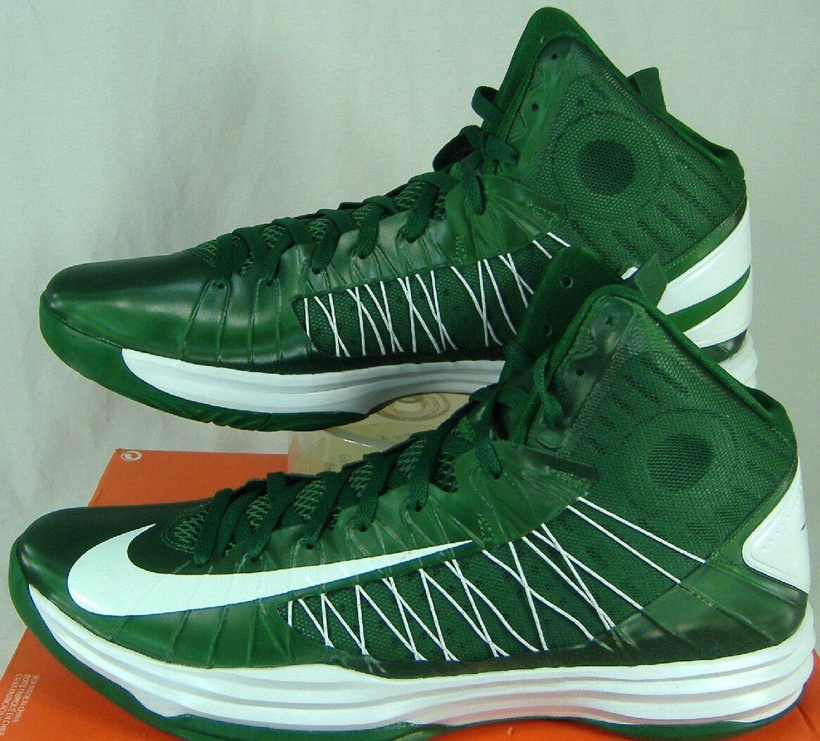 New Mens 18 NIKE Hyperdunk TB Green White High Top Shoes 140 524882-300