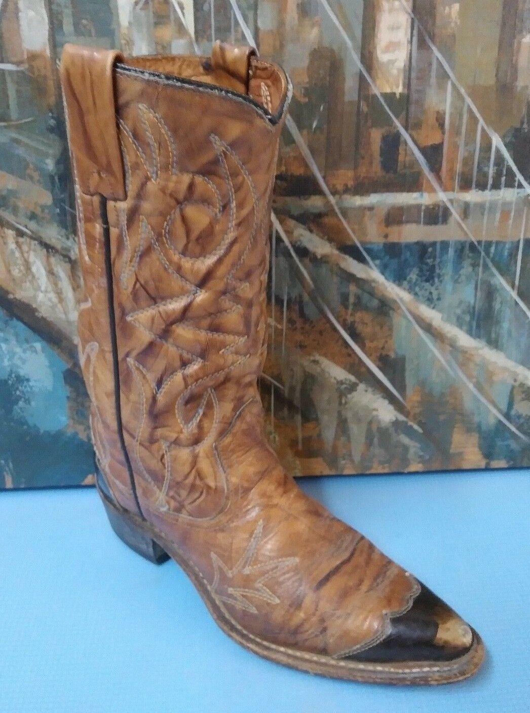 Vintage Texas démarrage Co Saddlemarron Western en cuir bottes femme taille 6.5 C