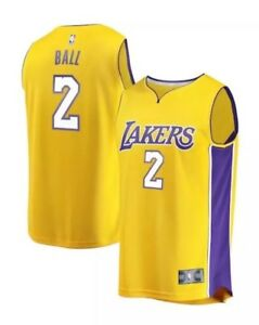 5aebe6d90ae Lonzo Ball Los Angeles Lakers NBA Basketball Youth Sz LARGE Fanatics ...