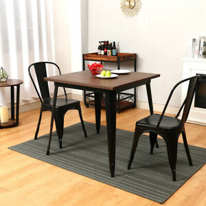 4 Seater Square Dinner Table Chair Stool Kitchen Dining Room Set For Small Space Ebay