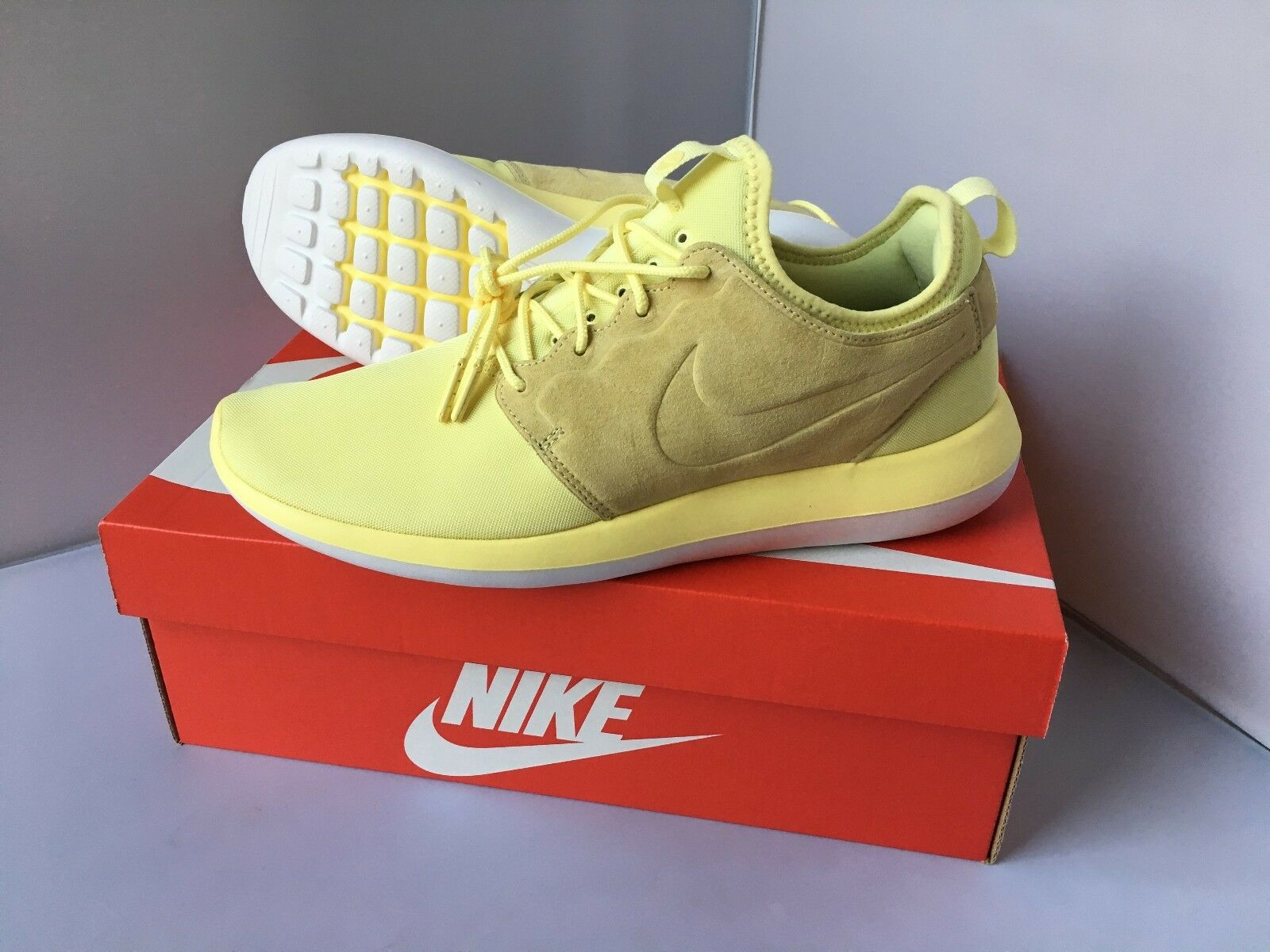 Nike Roshe Two Br Yellow Suede 9.0 Men