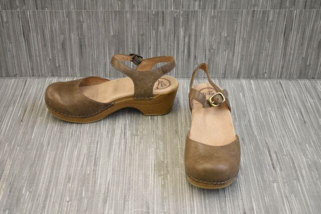 New DANSKO Womens Season Graphite Gray Nappa Leather Sandals 9849822200