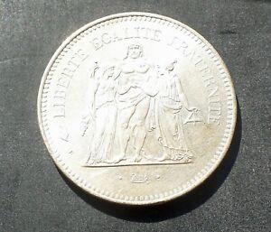 1976-France-Silver-50-Francs-Hercules-Paris-Mint-0-90-Silver-30-0g