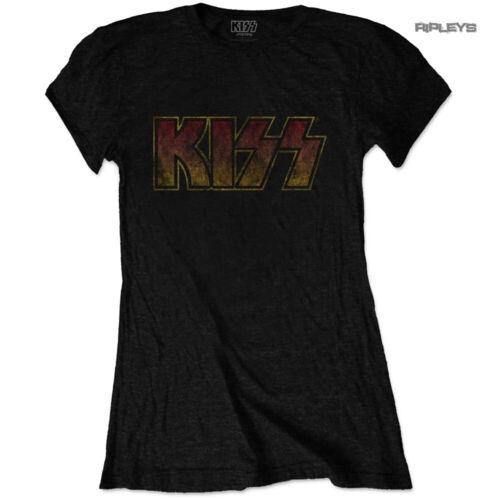 Officiel Femmes T Shirt METAL ROCK KISS Band Logo Classic Vintage Toutes Tailles