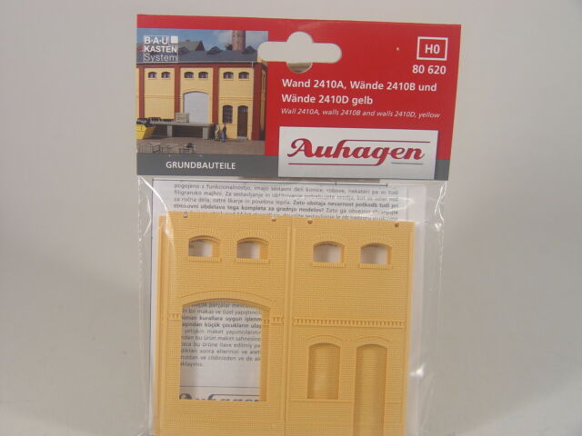 Klinker Wände gelb   f. Gewerbegebäude Eingenbauten  - Auhagen HO 80620 #E