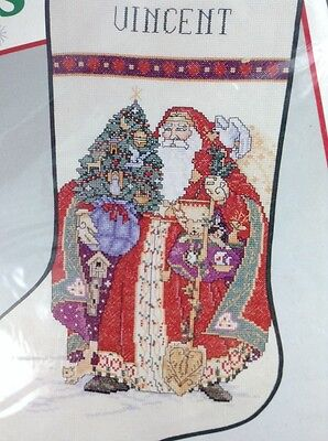 Olde St Nick Stocking 02873 Cross Stitch Kit Needle Treasures Victorian Griffith