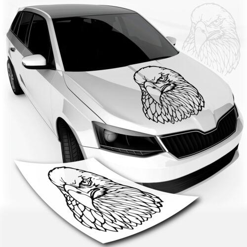 Weißkopf Seeadler Autoaufkleber Sticker Eagle Head Autotattoo Adler