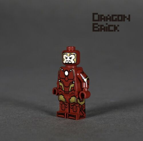 ⎡DRAGON BRICK ⎦Custom Iron Man Tony Stark Armor Mark 50 Lego Minifigure