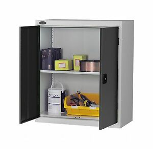 New British Made Heavy Duty Lockable Low Steel Storage