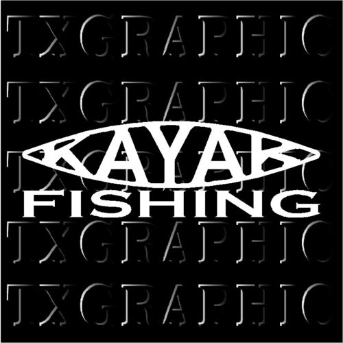 KAYAK FISHING Decal Vinyl Sticker Angler Salt Fisherman Fish paddle padal #1