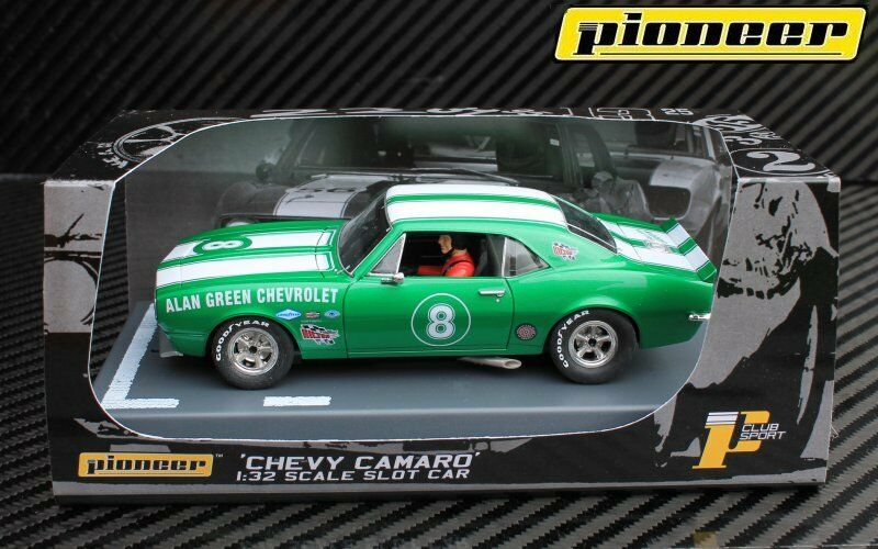 P047 1967 Green Chevrolet Camaro Z-28 No8