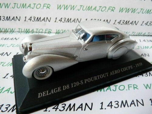 AUT19M 1//43 ixo altaya Coches de Antaño Delage D8 120-S por Todo Lo Aero 1938