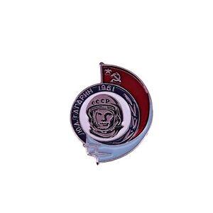 Soviet Union Yuri Gagarin Lapel Pin Badge/Brooch Retro Space Race Communist Soci