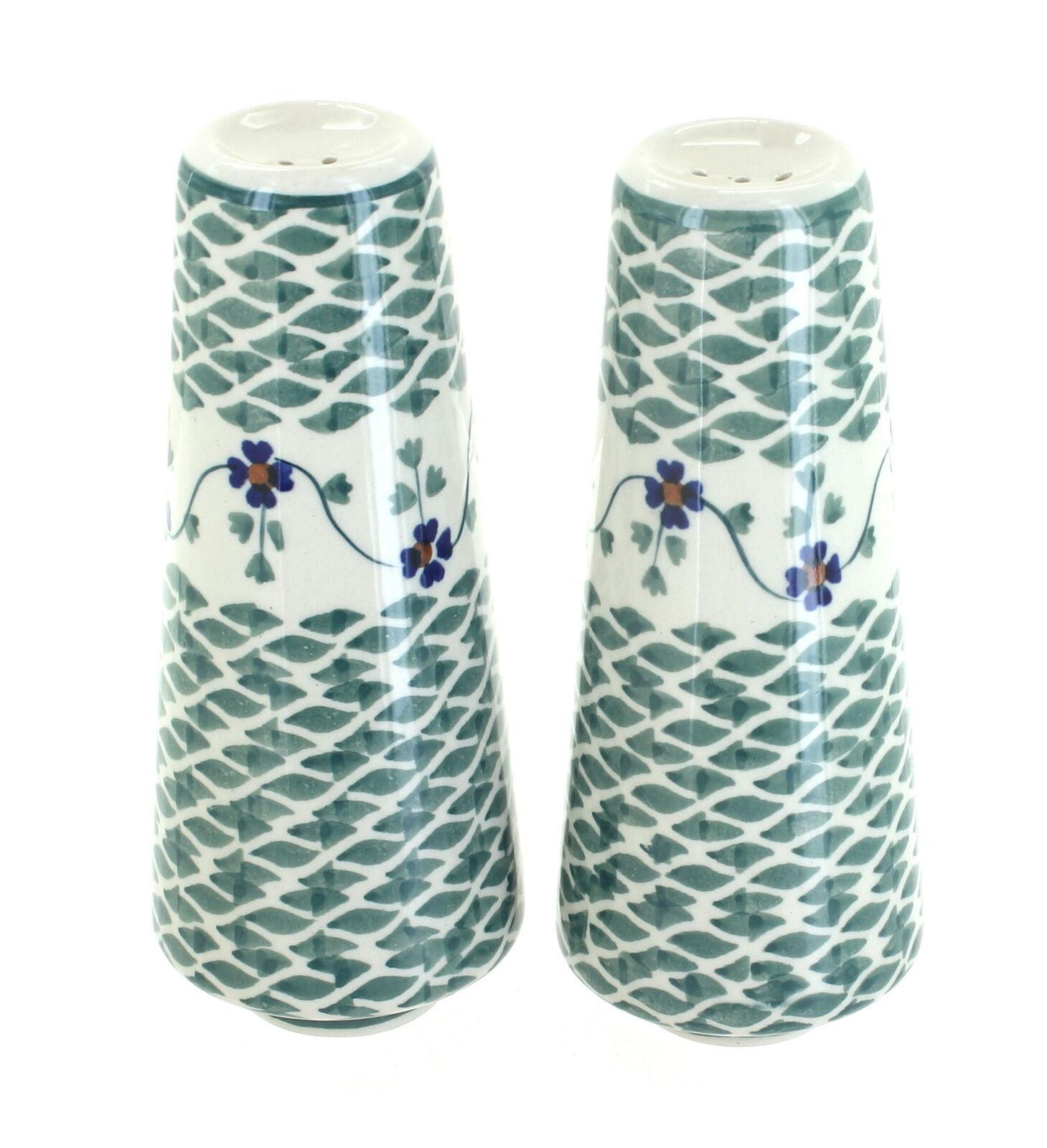 Blue Rose Polish Pottery Butterfly Egg Cup Set