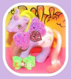 My-Little-Pony-MLP-G1-Vtg-BABY-GLIDER-Playtime-Fancy-Pants-Purple-Unicorn