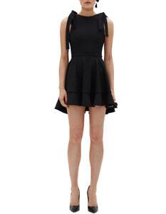 NEW-By-Johnny-Ilona-Tie-Strap-Frill-Dress-Black