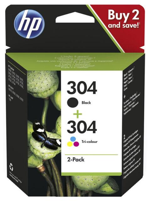 2x ORIGINAL HP 304 TINTE PATRONEN ENVY 5020 5030 5032 5034 Deskjet 3735 Set