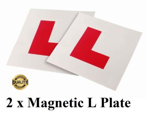 2 x Fully Magnetic Exterior Car New Learner L Plates Secure /& Safe UK