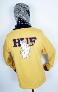 Huf Worldwide Womens Longsleeve T-Shirt Tee Shirt Giving Gold in S
