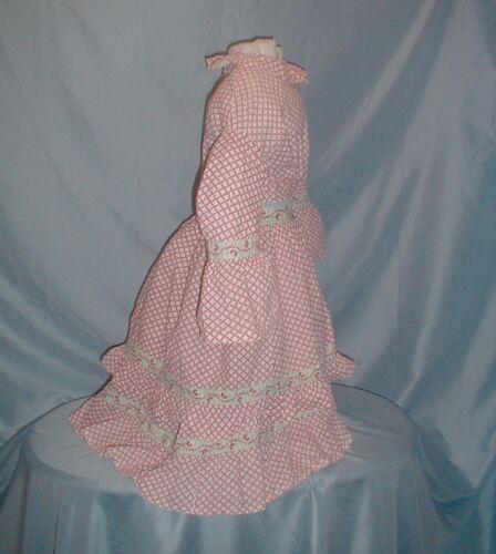 Antique Child's Dress Victorian 1860's Two Piece P