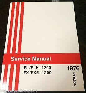 Harley FL & FX Service Manual 1970 to 1976 Shovelhead FLH ...