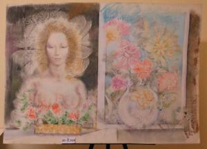 Tableau-Moderne-Nue-Floral-Fleurs-Peinture-Avec-Technique-De-Du-Givre-P33-8