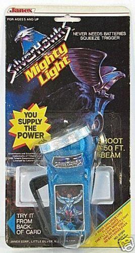 SilberHAWKS Mighty Light FLASHLIGHT 1986 RARE MOC