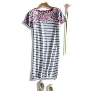 NEW-EX-JOULES-UK-12-14-16-18-RIVIERA-STRIPE-FLORAL-JERSEY-TUNIC-DRESS