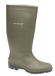 Botas para hombre Wellington/Verde PVC Impermeable Dunlop pricemaster Verde S 7 a 12