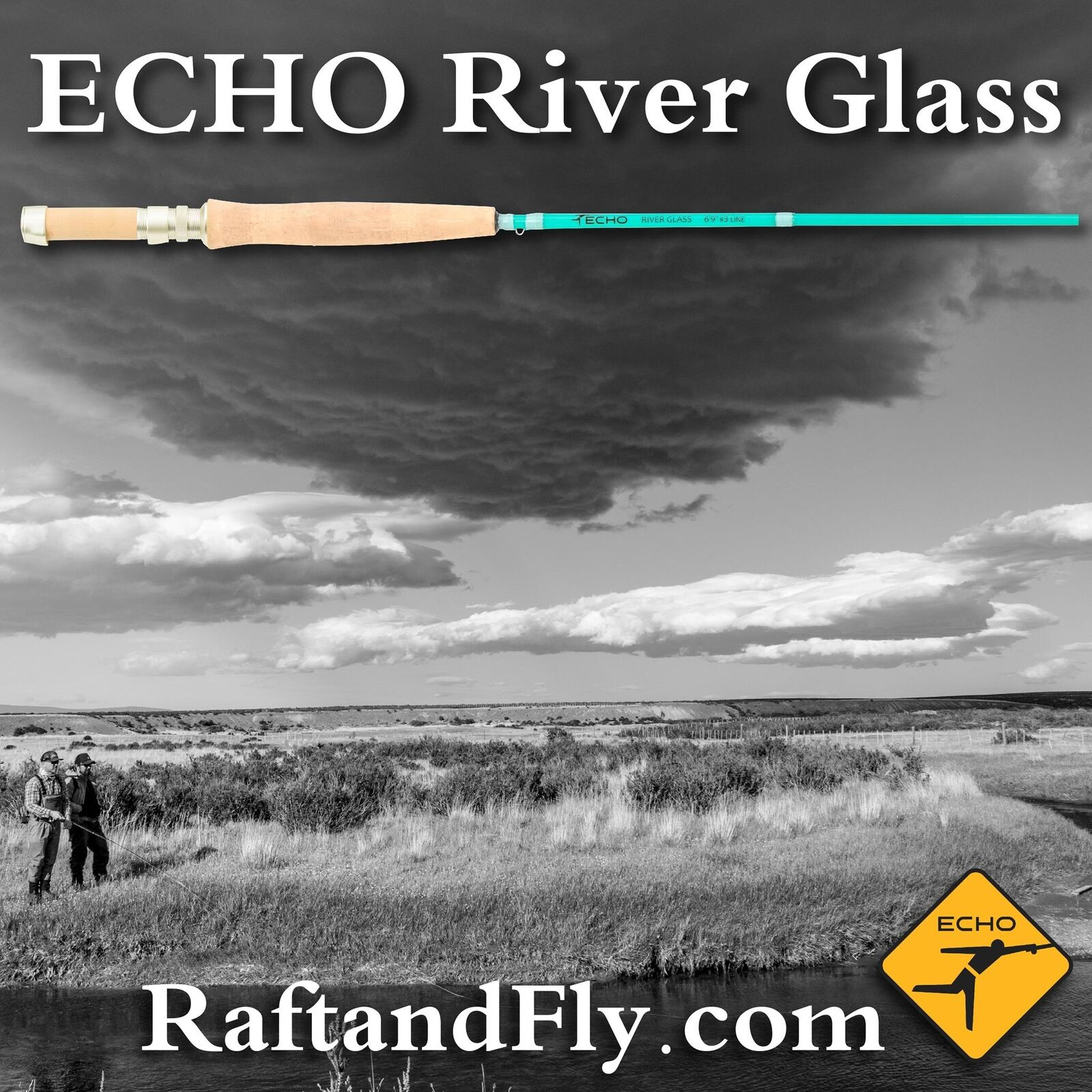 ECHO River Glass 4wt Glacier 8'0  Lifetime Warranty  FREE SHIPPING