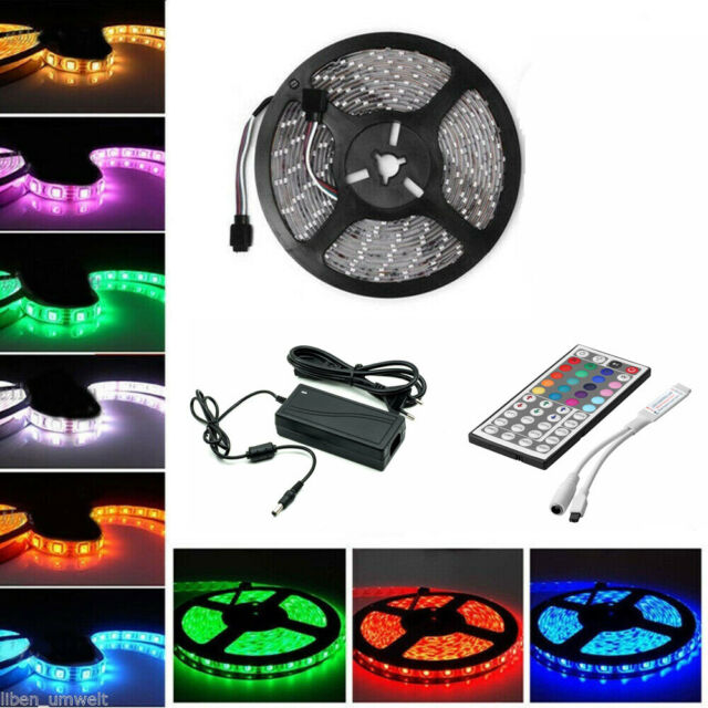 5M 30M LED Stripe RGB Leiste Streifen 5050 Band nicht Wasserdicht Lichterkette