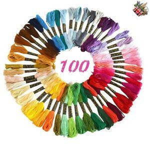 100-Anchor-Cross-Stitch-Cotton-Embroidery-Thread-Floss-Skeins-ASSORTED-Colors