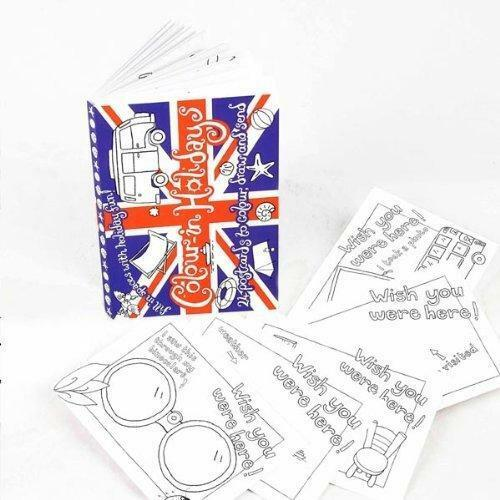 Eggnogg Colour In Holiday Postcards Children Travelling Activity Colour And Send