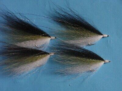 4 X PRAWN//SHRIMP FLIES FOR BASS,SALMON,SEA TROUT,REDFISH,TROUT,PIKE,TROUT,SIZE 6