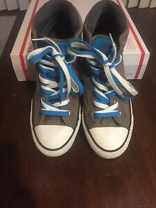 f8d85ab7669306 Image is loading CONVERSE-ALL-STAR-HI-TOPS-GRAY-WHITE-amp-