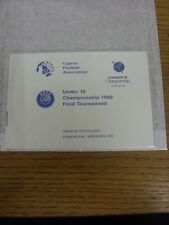 1998 UEFA U18 Championship 1998 Final Tournament: In Cyprus - Small Booklet As I