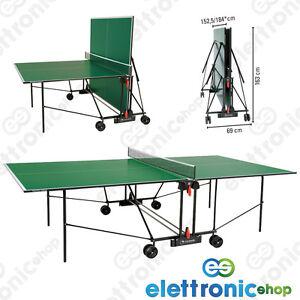 Garlando tennis tavolo ping pong c 162i progress indoor verde pieghevole omaggi ebay - Costruire tavolo ping pong pieghevole ...