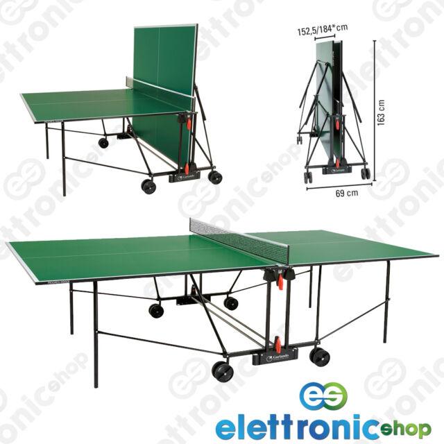 Garlando Tennis Tavolo Ping Pong C-162I Progress Indoor verde pieghevole +OMAGGI