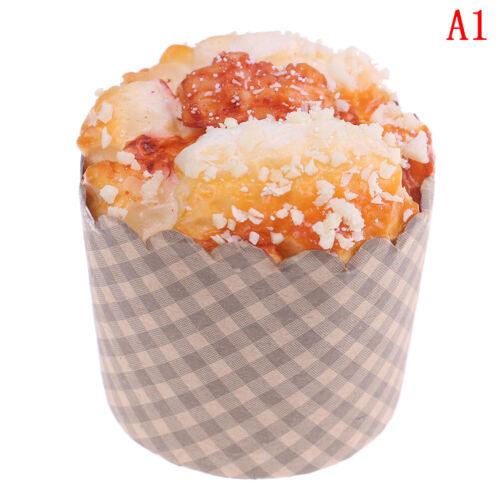 1Pc Artificial fake pu cupcake bread model DIY craft home kitchen decor OD