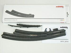 Märklin H0 24772, eine schlanke C – Gleis Bogen Weiche rechts, R 3, neu
