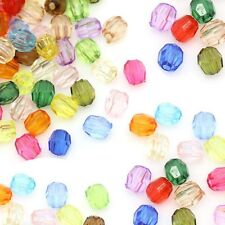 Mixed Acrylic Faceted Spacer Beads 4mm, 2000 Pack (1mm Hole)