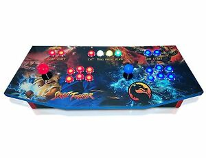 Arcade-Control-Panel-with-Custom-Graphics-and-Sanwa-Control-Kit-MAME-Cam-Lock