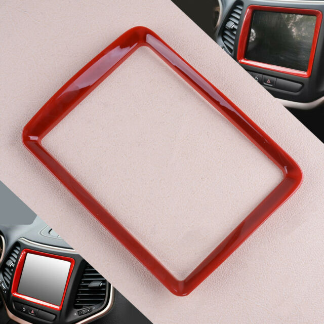 Interior Navigation Panel Trim Frame Fit For Jeep Cherokee