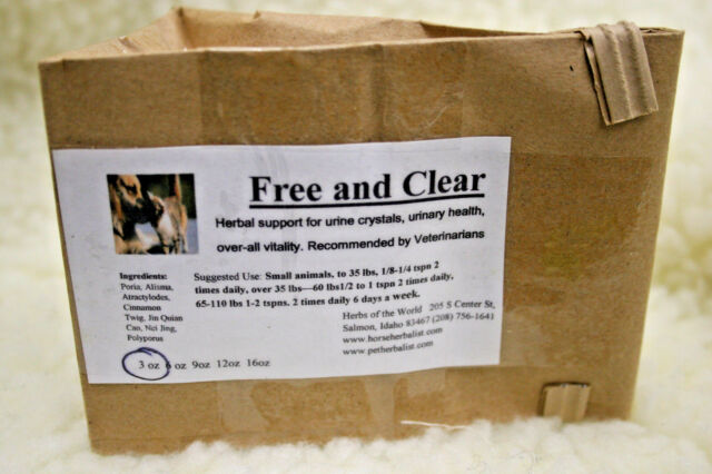 Free & Clear Herbal Support For Cats & Dogs Urine Crystals and Urinary Health