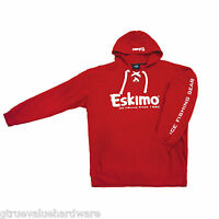 Eskimo Red Hockey Hoodie M, L, Xl, Xxl Matches Your Fish Ice House Auger