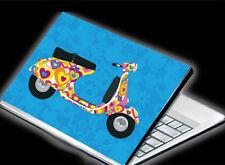 "Aufkleber Skin Case Cover f. 15.6"" Notebook Laptop ROLLER MOPED  NEU"